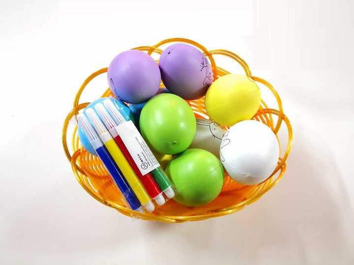 Szines kifestő tojás Kosár